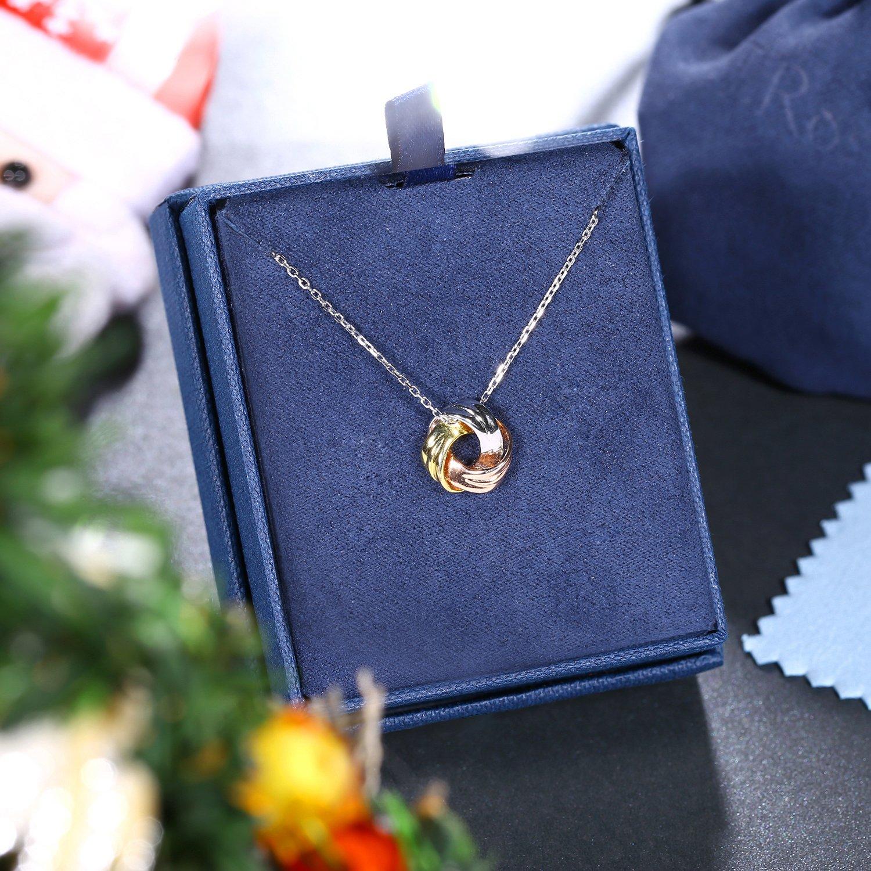 J.Ros/éeMai separarsi con 5A Zirconi con Confezione Regalo Regalo di Natale per Donna//Ragazza Collana Argento 925