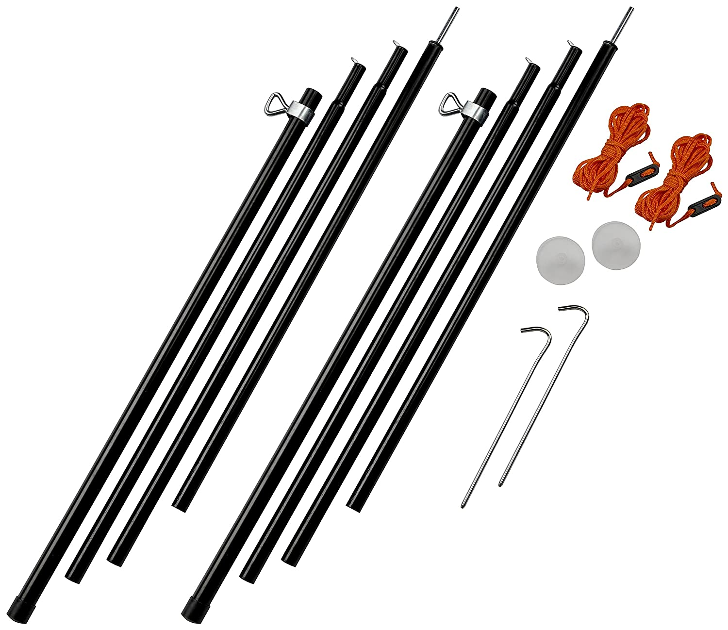 Vango Outdoor Adjustable Pole Set available in Black - Size 180 - 220 cm Amazon.co.uk Sports u0026 Outdoors  sc 1 st  Amazon UK & Vango Outdoor Adjustable Pole Set available in Black - Size 180 ...