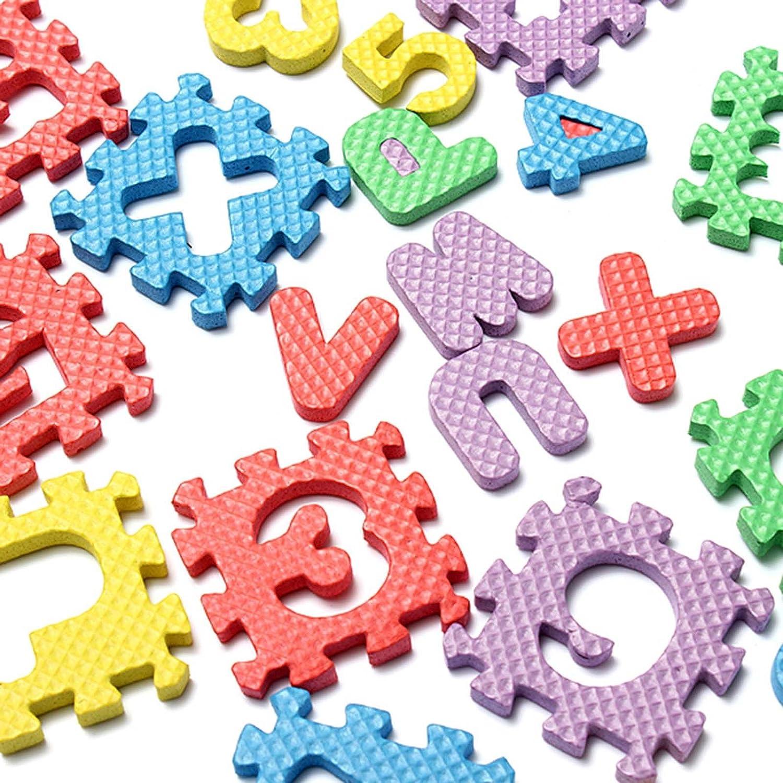 VANKER 36pcs del alfabeto N/úmero de EVA espuma Puzzle Mats Beb/é Ni/ño ense/ñar a los ni/ños las herramientas de juguete de regalo