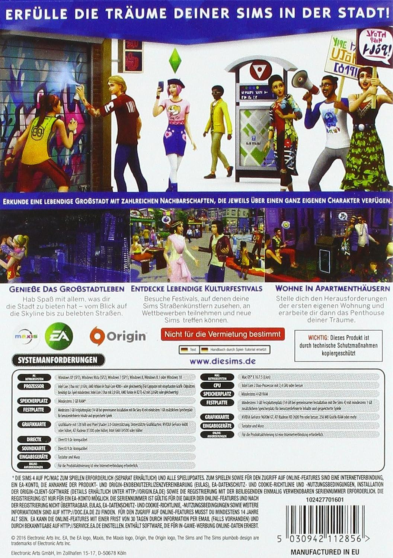Die Sims 4: Großstadtleben - Erweiterungspack [Importación Alemana]: Amazon.es: Videojuegos