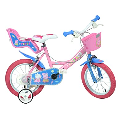 Dino Bikes 144R-PIG Peppa Pig Finding Dory Bicycle, Kids Bike, Pink: Toys & Games