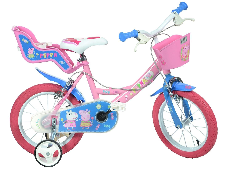 Kids Bike Dino Bikes 144R-PIG Peppa Pig Finding Dory Bicycle Pink