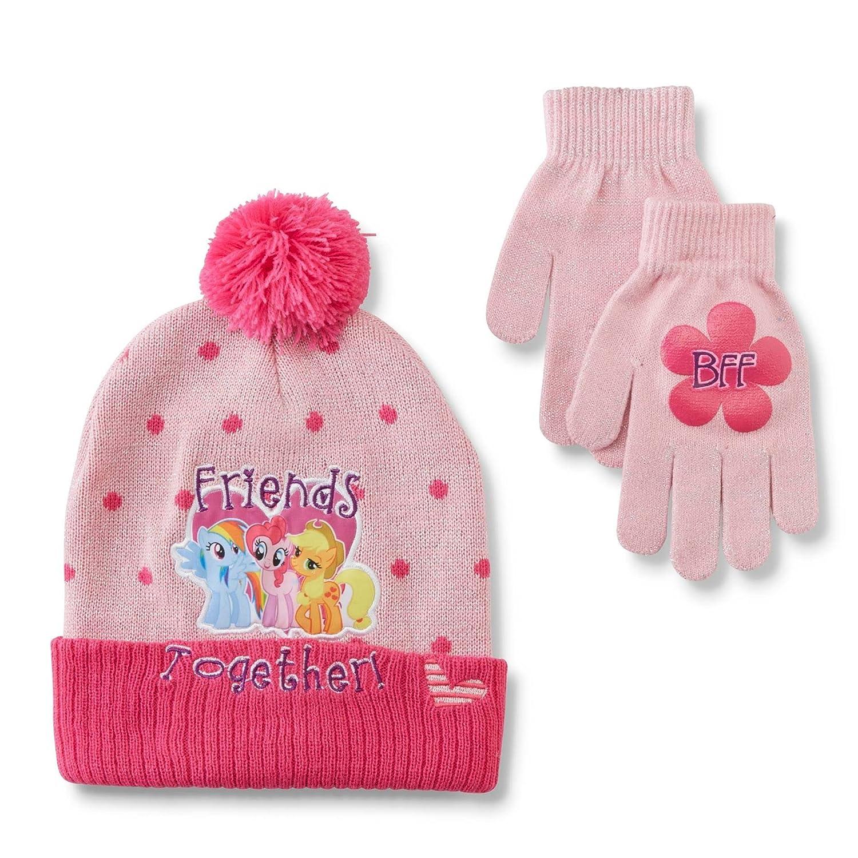 Amazon Hasbro My Little Pony Girls Pompom Hat Gloves Clothing