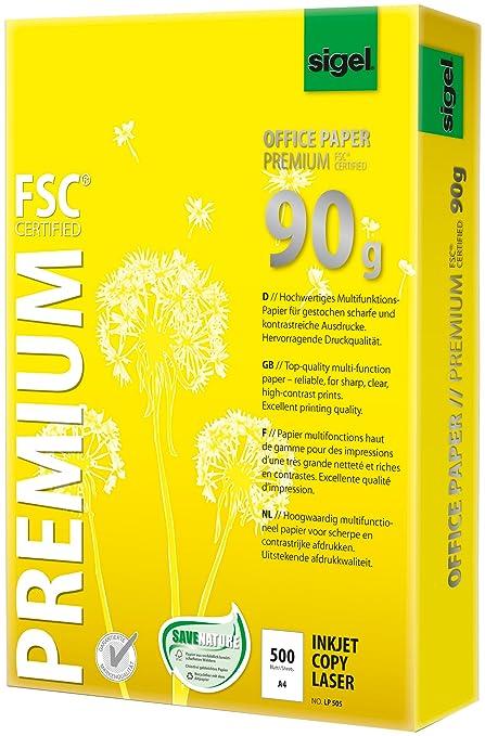 Sigel lp505 oficina - Papel de calidad superior (tamaño A4, 90 g ...