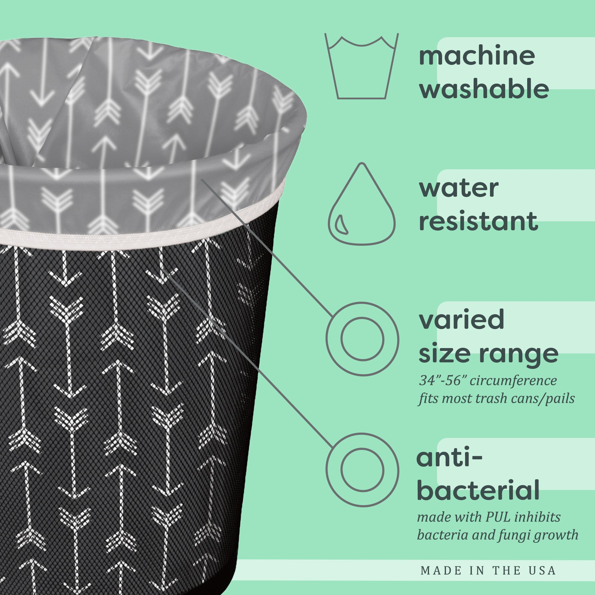 Planet Wise Reusable Trash Bag, Celestial Sea by Planet Wise (Image #3)