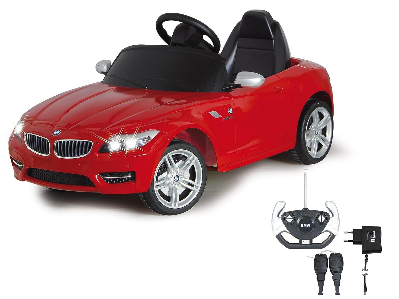 Jamara 404751 - Ride-on BMW Z4 rot 40Mhz 6V - Kinderauto, leistungsstarker Motor und Akku, bis zu 90 Min. Fahrzeit, Ultra-Gripp Gummiring am Antriebsrad, Anschluss von Audioquellen, Bremse,Sound,Licht