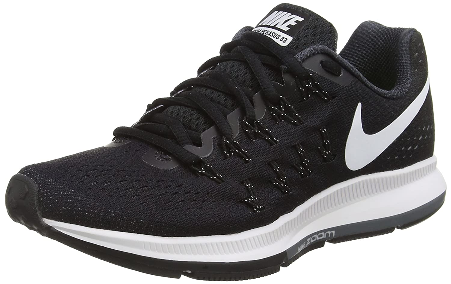 NIKE Women's Air Zoom Pegasus 33 B014EC7NLS 7.5 B(M) US|Black/Cool Grey/Wolf Grey/White