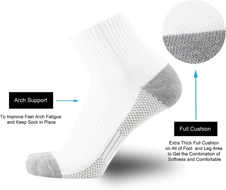ONKE Cotton Moisture Wicking Cushion Running Ankle Low Cut Socks Men Pack