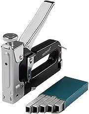 wolfcraft Tacocraft 7 Handtacker Set 7089000 | Leistungsstarker Werkzeugtacker mit regulierbarer Schusskraft inkl. 1000 8 mm Klammern | Ideal für anspruchsvolle Arbeiten und Renovierungen