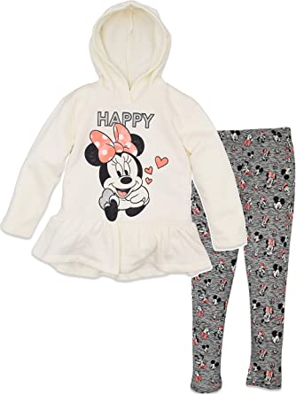 Minnie Mouse Girls Long Sleeve Ruffle Top and Sparkly Leggings Brand new