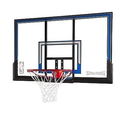 Amazon.com: Spalding Canasta de baloncesto pared con 50-inch ...