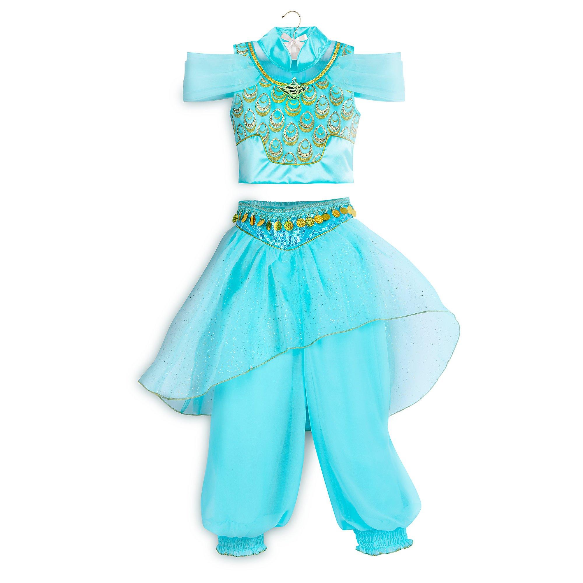 Disney Jasmine Costume for Kids - Aladdin Size 9/10 Blue