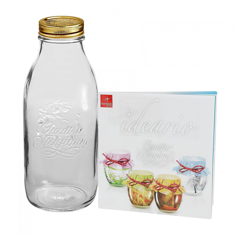 Tarros para conservas Original 1, incluye recetas Bormioli 0L botella: Amazon.es: Hogar