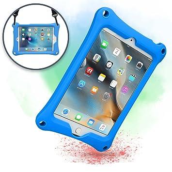 Funda para Apple iPad Mini 4 3 2 1, [Funda Resistente de Mano con Correa] Cooper Bounce Strap Funda Todo en uno con Soporte Ajustable, a Prueba de ...