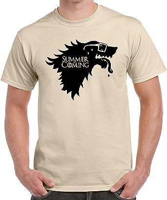 The Fan Tee Camiseta de Hombre Juego de Tronos Winter is Comming Summer Divertidas: Amazon.es: Ropa y accesorios