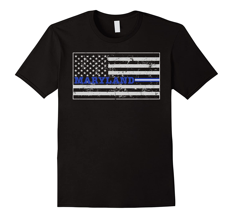 Maryland Paramedic EMT Thin White Line Flag Shirt-TD