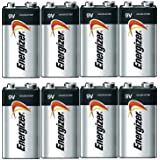 Energizer E522 Max 9V Alkaline battery Exp. 03/18 or later Made in USA - 8 Count