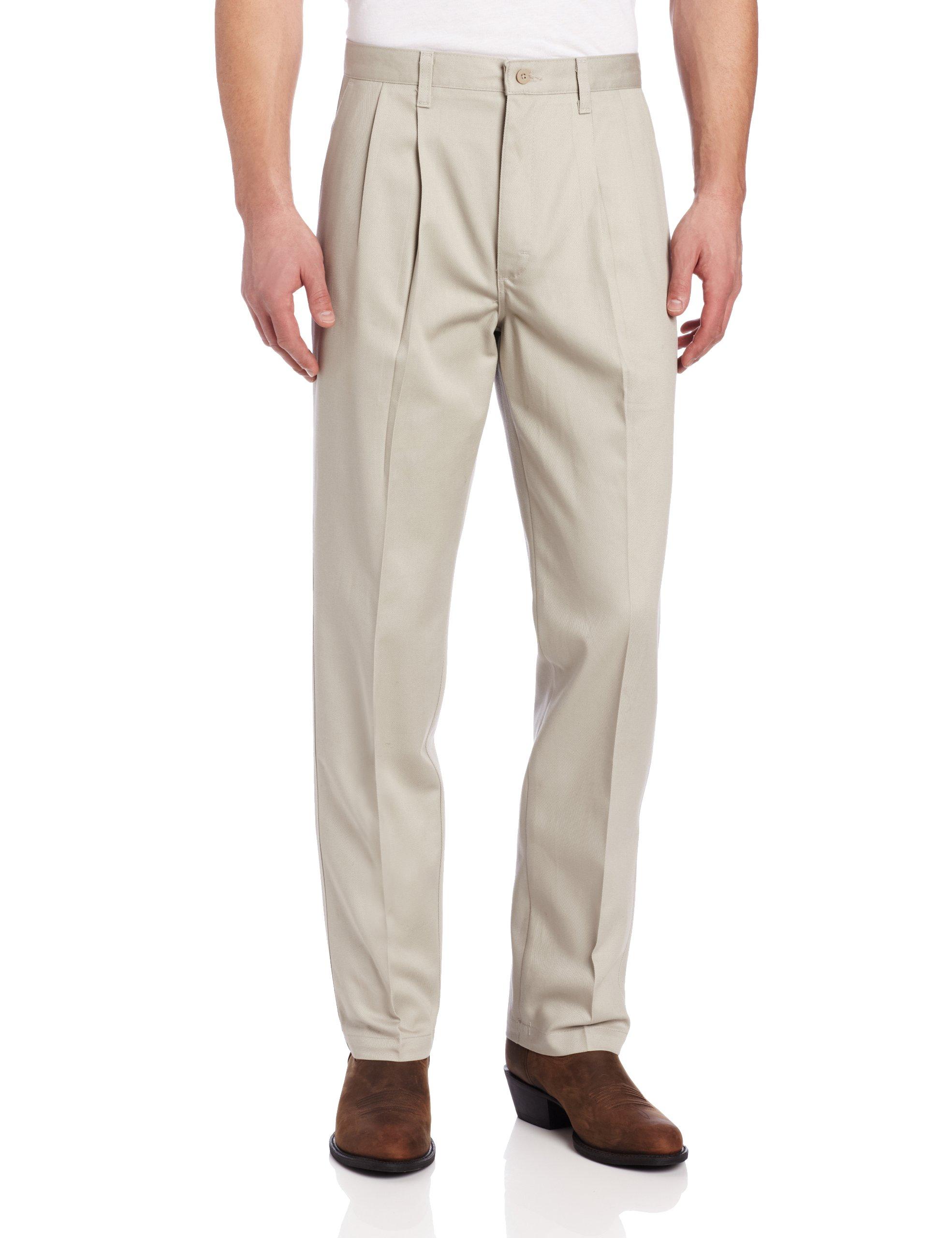 Wrangler Men's Tall Riata Pleat Front Twill Pant,Putty,32x38