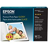 Epson S041727 Premium Photo Paper Glossy, 4x6, 100 sheets Ink