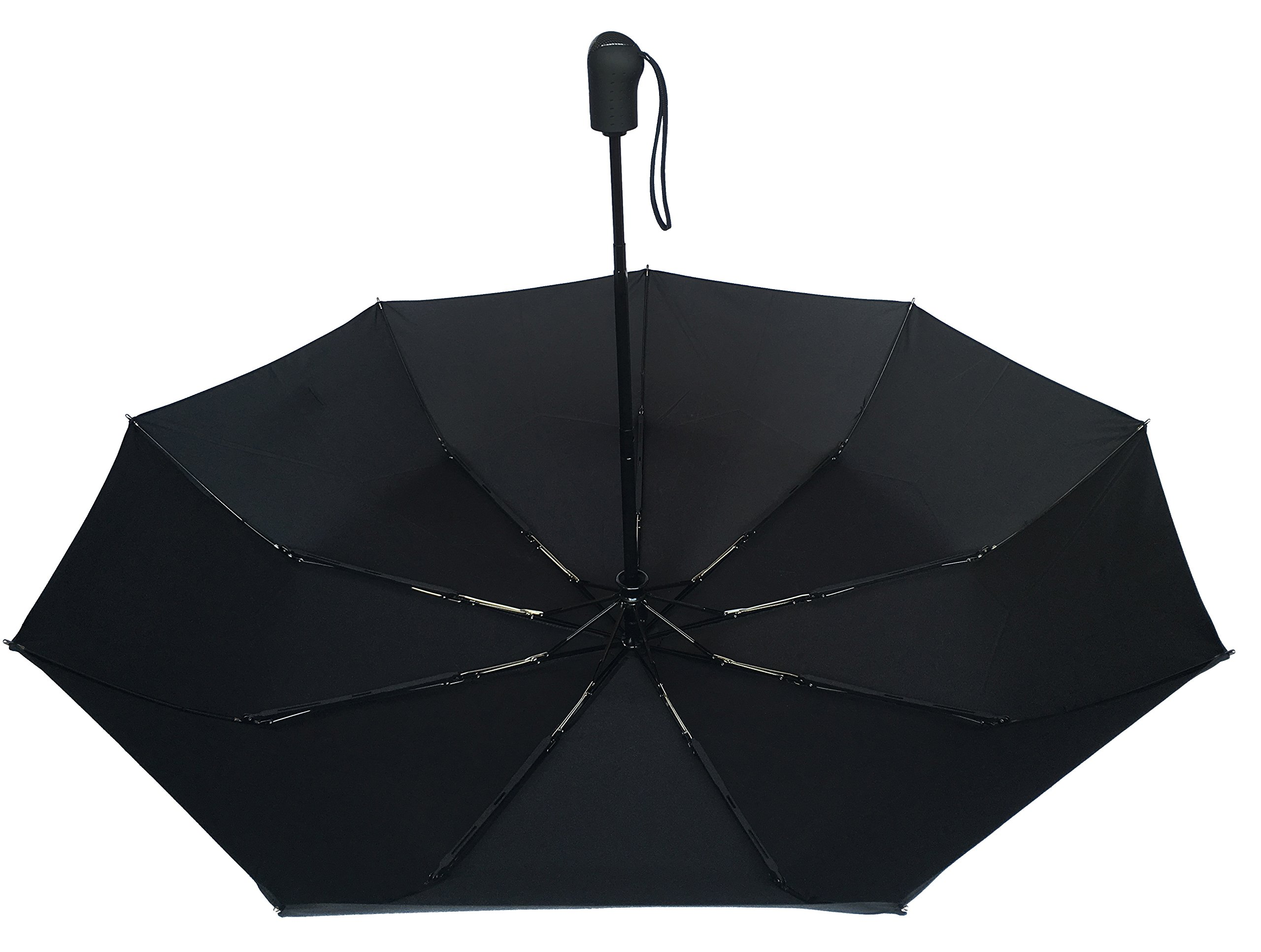 Umenice Auto Open And Closed travel umbrella 9 Ribs Black by Umenice (Image #6)
