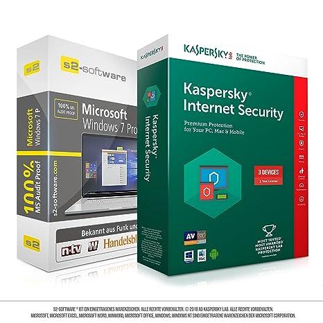 Microsoft® Windows 7 Professional (PRO) + Kaspersky Bundle. Original ...