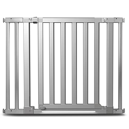 Munchkin Luna Baby Gate with LED Light, Silver, Model MKSA0537