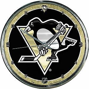 "NHL Chrome Clock, 12"" x 12"""