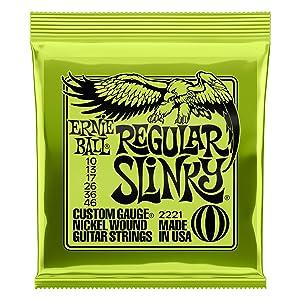 【正規品】 ERNIE BALL ギター弦 レギュラー (10-46) 12セット 2221 REGULAR SLINKY 12SET
