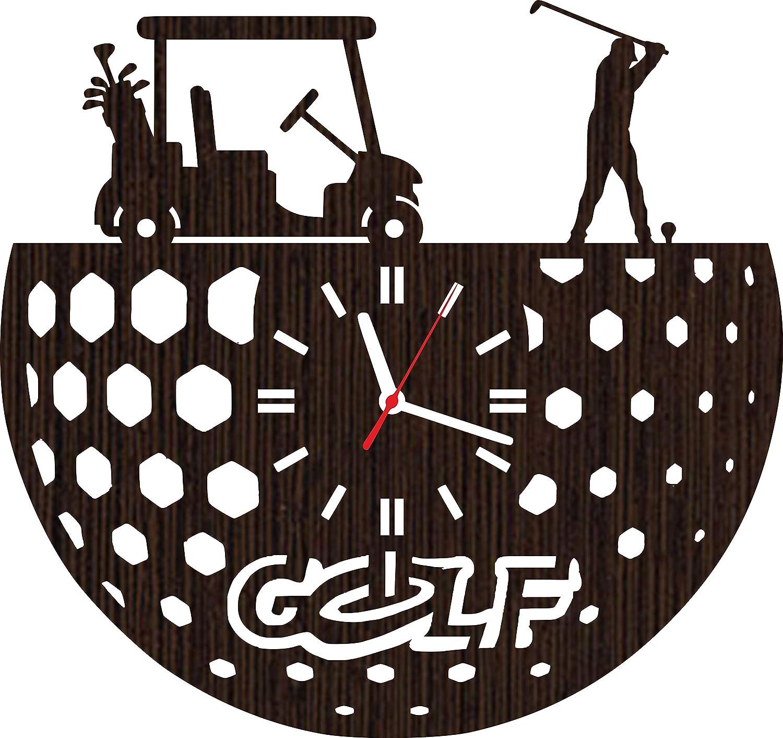 Lovelygift4you Absolutely Unique Gift Wooden Wall Clock Sports Golf for Men Women dad Grandpa Girls him her Husband Kids Boys Golfers Home Decor Art Decorations