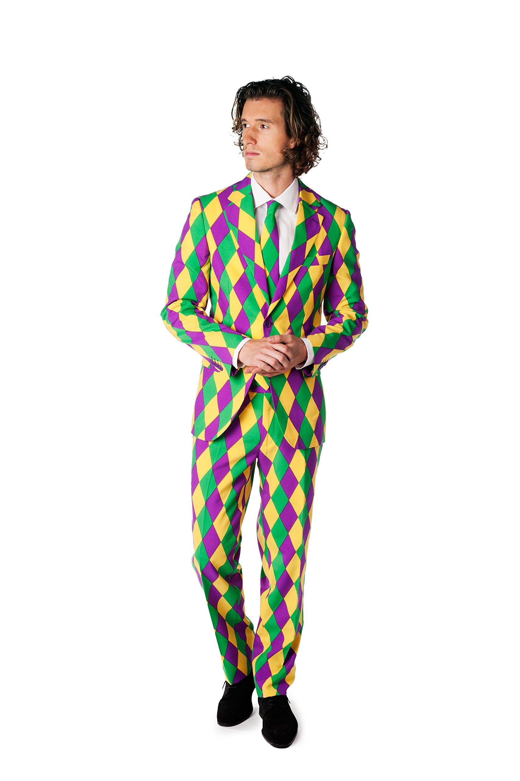 OppoSuits Mens Harleking Party Suit - Crazy Suit, 46