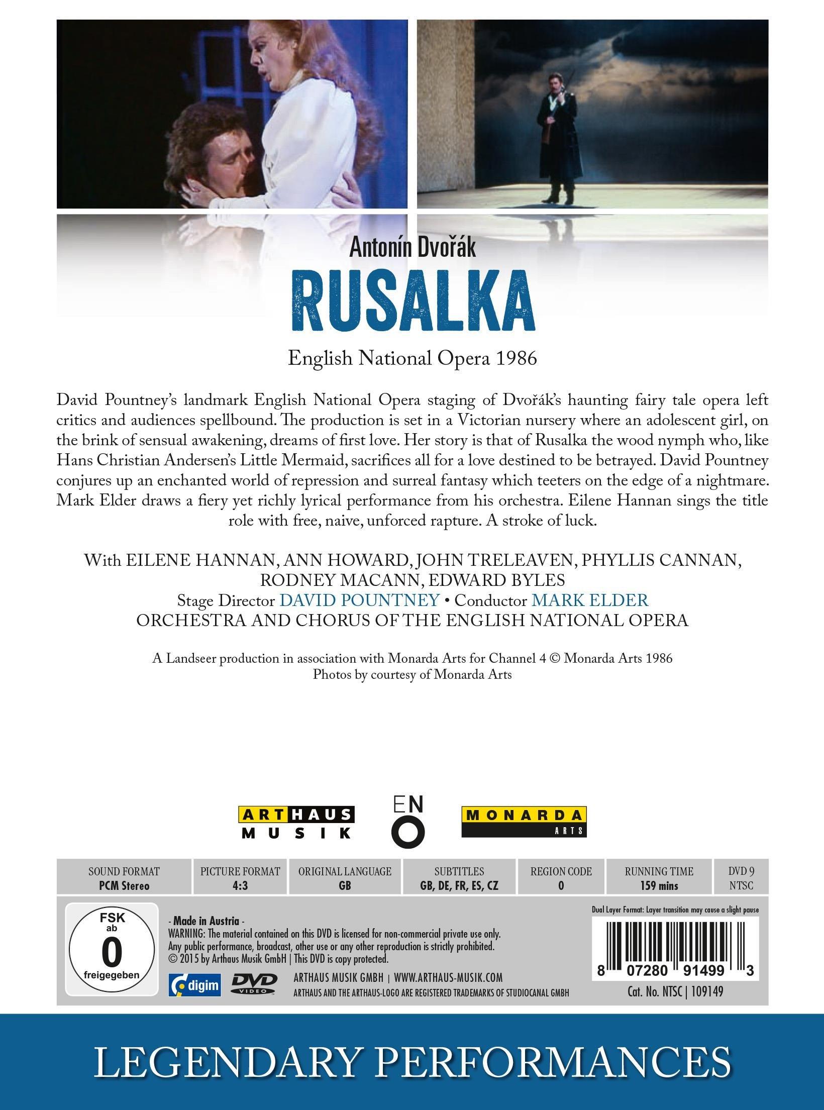 Antonin Dvorák: Rusalka (Legendary Performances) by Arthaus