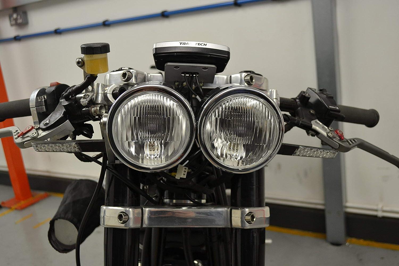 Moto Phare Chrome Double Halog/ène 35W Dominator Warrior Bandit Trike
