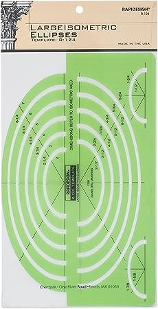 Berol® Rapidesign® Template 124R Large Isometric Ellipse