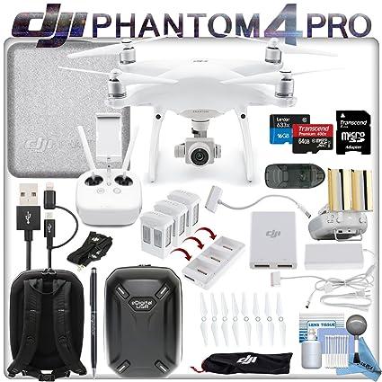 DJI Phantom 4 Pro Drone W/Fly más Combo: Incluye batería de Alta ...