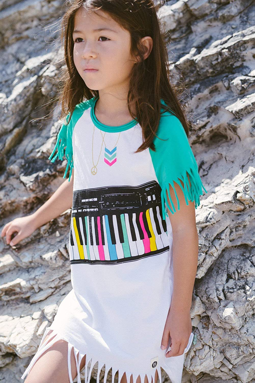 Mini Shatsu Piano Keyboard Fringe Baby Dress