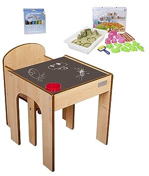 little helper mueble en escritorio y banco infantil con tablero de mesa