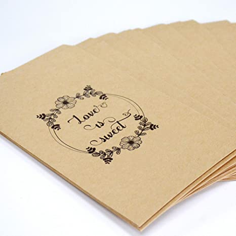 Amazon.com: Friday Night Bolsas de papel kraft marrón para ...