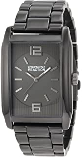 Kenneth Cole REACTION Mens RK5104 Rectangle Analog Grey Tone Watch