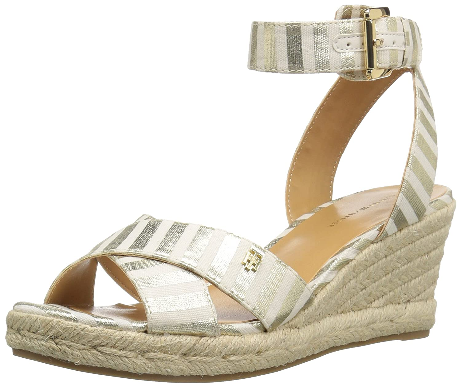 Tommy Hilfiger Women's Gorgis Wedge Sandal B01M7SC8JH 10.5 B(M) US|Gold