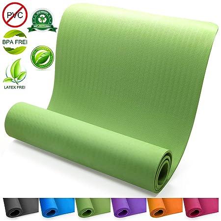 Yogamatte mit Tasche & Trageband, 183x61x0,8cm