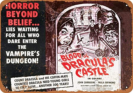 Shunry Blood of Draculas Castle Placa Cartel Vintage Estaño ...