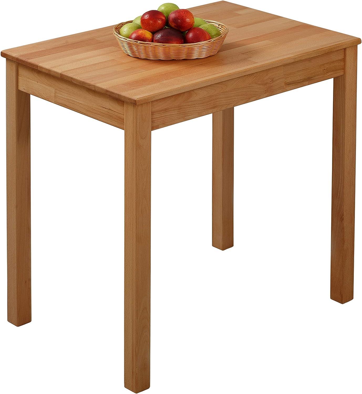 Modello Parigi Krok Wood Tavolo da Pranzo in Legno Massiccio di Quercia Effetto Coccodrillo 75 x 50 x 75 cm 100/% FSC