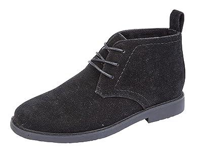 4338219a47428 Boys Junior Desert Boots Smart Casual Comfort Lace Up Faux Suede Shoes (UK  4,