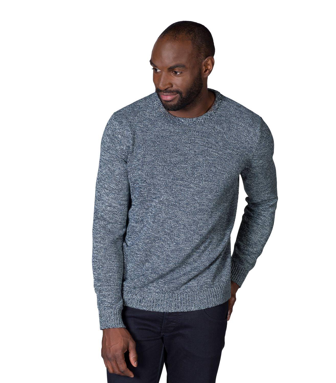 Woolovers Mens 100% Cotton Twist Crew Neck Jumper Knitted Sweater Pullover M,L,XL, XXL, XXXL