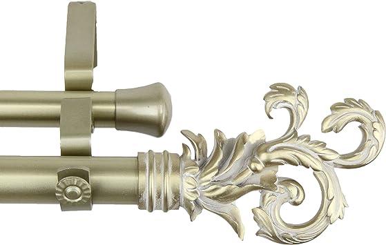 28-48 inch A/&F Rod Decor Black Empress Curtain Rod 1 inch diameter