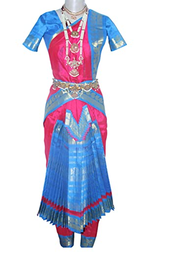 26fe41661c359 Bharatanatyam Readymade Silk Cotton Dance Costume For Fancy Dress  Competitions/School Events/Annual Functions