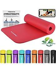Gymnastikmatte Premium inkl. Übungsposter + Tragegurt + Workout App GRATIS   Hautfreundliche - Phthalatfreie Fitnessmatte 190 x 60 x 1,5 cm oder 190 x 100 x 1,5 cm - in verschiedenen Größen und Farben   Yogamatte