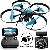 Drone with Camera Live Video Quadcopter – U49WF RC WiFi FPV Drones with Camera for Adults or Kids, 720p HD Camera Drones for Beginners w/Extra Battery