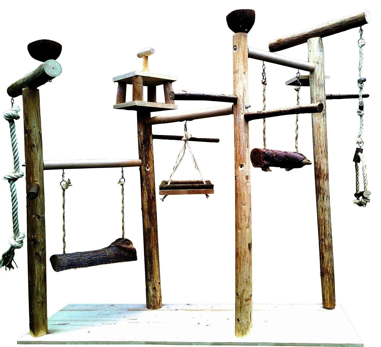 XL Kletterbaum für Vögel mit Vogelspielzeug , Papageienfreisitz 603