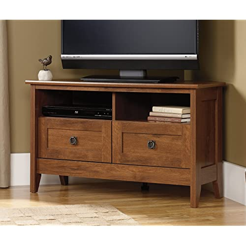 Ordinaire Sauder August Hill Corner Entertainment Stand, Oiled Oak Finish